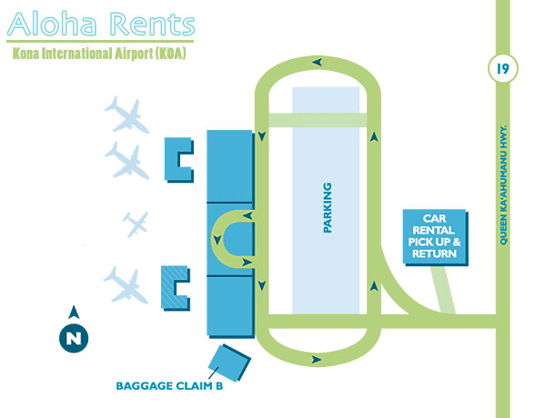 KOA Airport Map