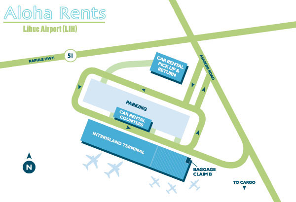 Lihue Airport Map Car Rental
